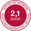 "Stiftung Warentest (""good"" 2.1)"