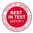 Stiftung Warentest (best in test)