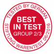 Stiftung Warentest (2016, best in test)