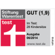 Stiftung Warentest (2014, good)