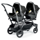 Коляска для двойни PEG-PEREGO Duette Piroet Pop-Up (серый)