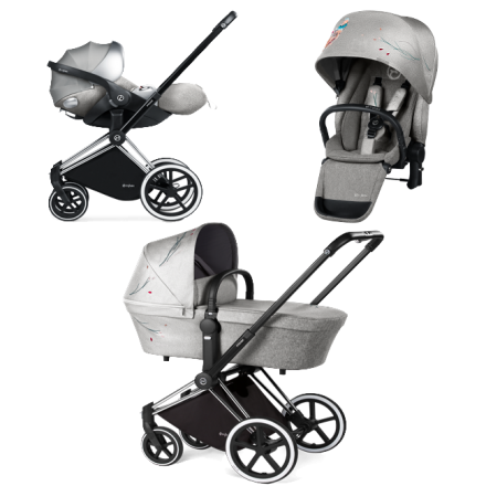 Коляска Cybex Priam Koi Mid Grey (3 в 1)