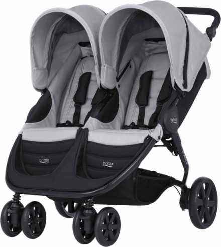 Коляска для двойни BRITAX B-Agile DOUBLE (Steel Grey)