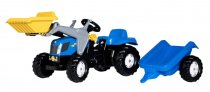 Трактор с причепом и ковшом Rolly Toys rollyKid NEW HOLLAND