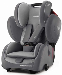 Автокресло RECARO Young Sport HERO 2017 (Aluminium Grey)